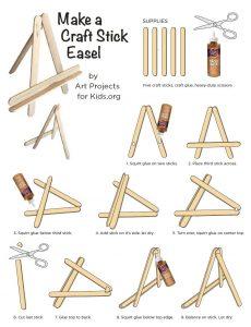 popsicle stick mini easel-diagram