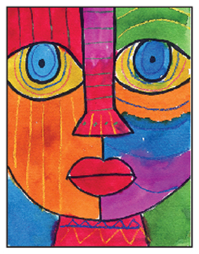 Draw An Abstract Face Art Projects For Kids