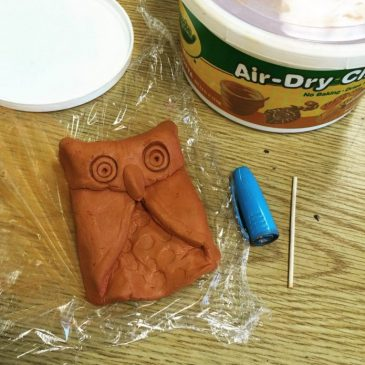 Folded Air Dry Clay Owl
