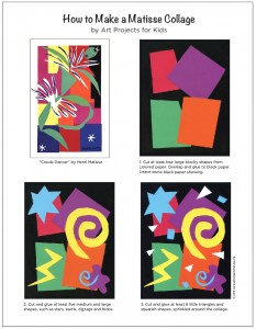 colorful Matisse collage