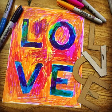 Sharpie Scribble LOVE