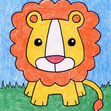 draw a baby lion - Images For Kids Drawing