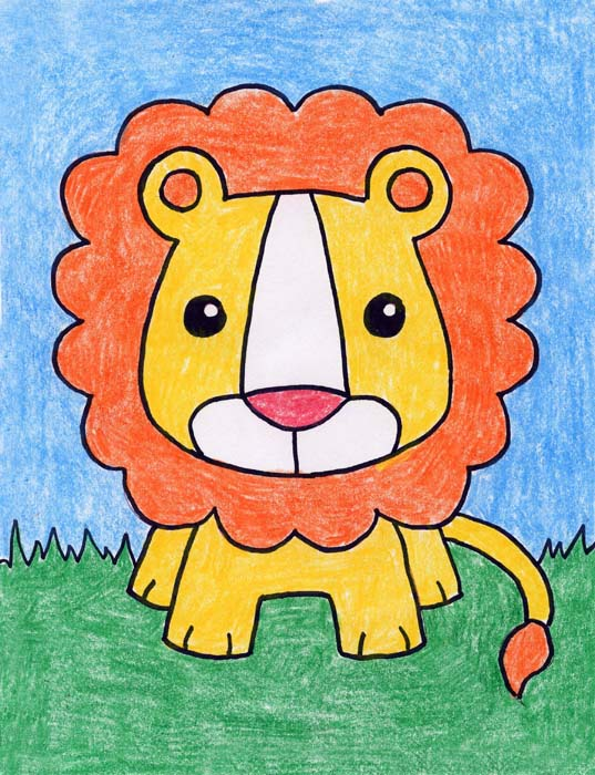 How To Draw A Lion Art Projects For Kids Lion coloring pages are a fun way for kids to learn about the animal kingdom. how to draw a lion art projects for kids