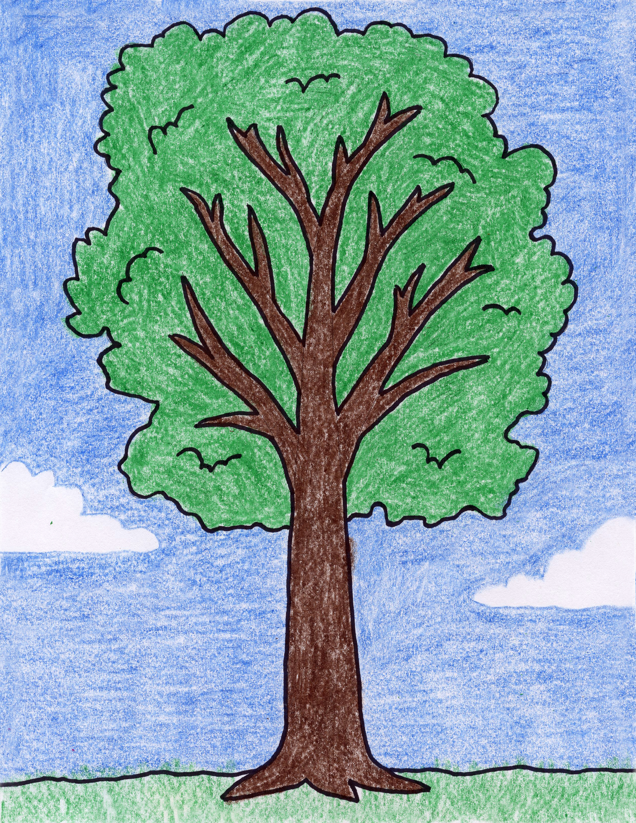 How To Draw A Tree Art Projects For Kids