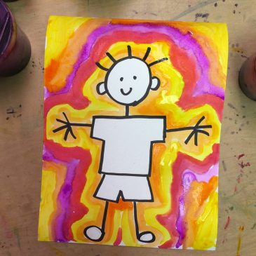 easy paintings for kids