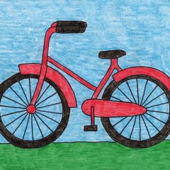 simple bike drawing