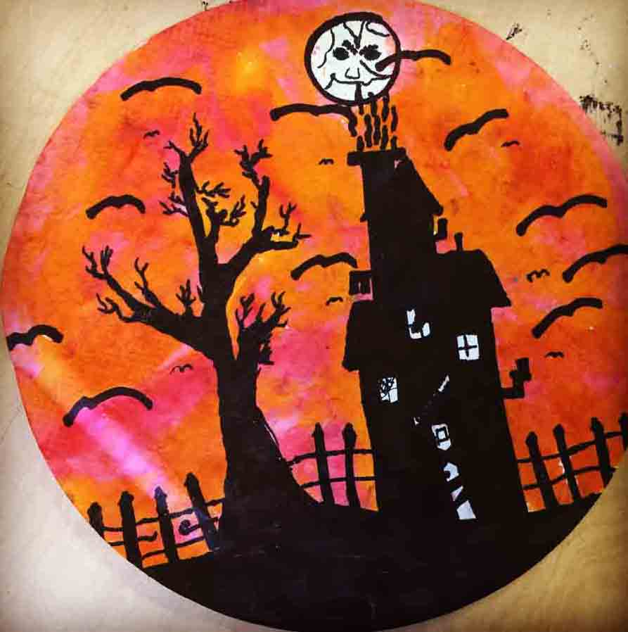 halloween art and craft ideas silhouette projects for 6653