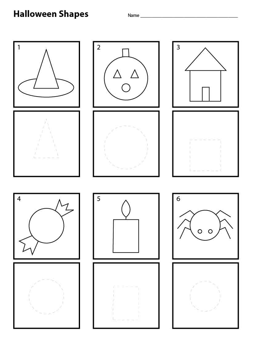 worksheet Kindergarten Shapes Worksheets halloween shapes for pre k art projects kids worksheets kindergarten