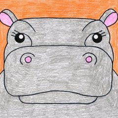 hippo cartoon drawing