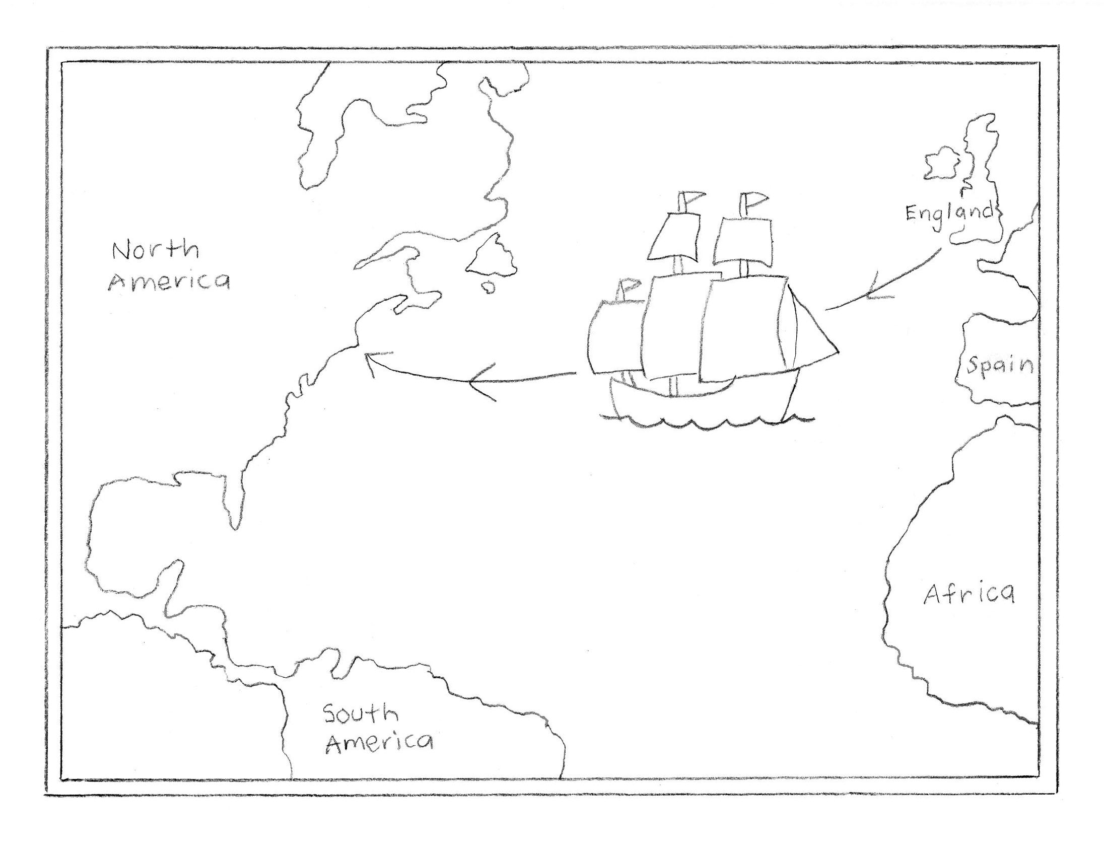 mayflower map art projects for kids
