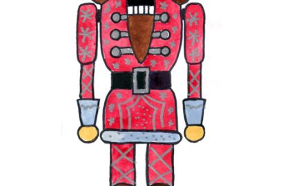 draw easy nutcracker