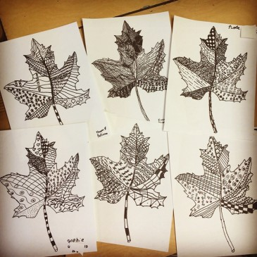 Zentangle Leaves