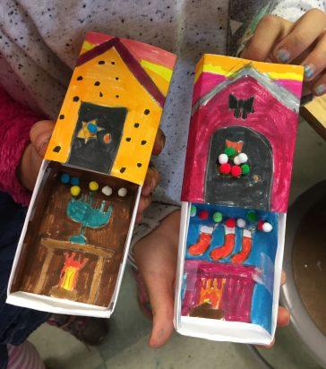 Holiday Matchbox Art