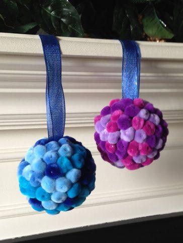 Pom Pom Ball Ornaments