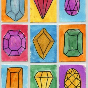 Watercolor Jewels