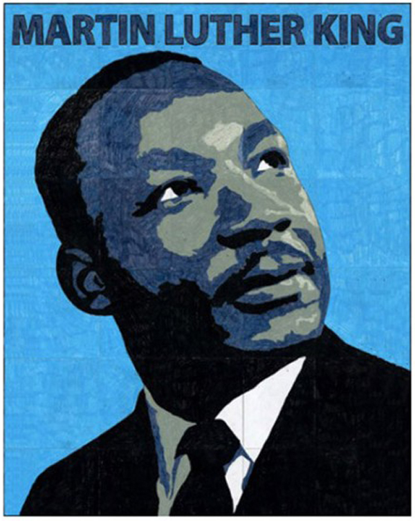 Martin Luther King Mural Template, $5 - Art Projects for Kids
