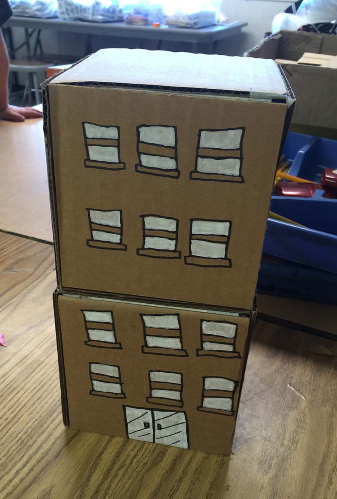 Cardboard-buildings  Th Grade Halloween Art Projects on snowflake art project 4th grade, pinterest crafts 4th grade, halloween art projects high school, paper mache projects 4th grade, halloween art projects middle school, halloween art projects shape, halloween art activities, halloween art for toddlers, pumpkin art for 4th grade, watercolor for 5th grade, christmas projects 4th grade, halloween art projects for preschoolers, halloween lessons for 5th grade,