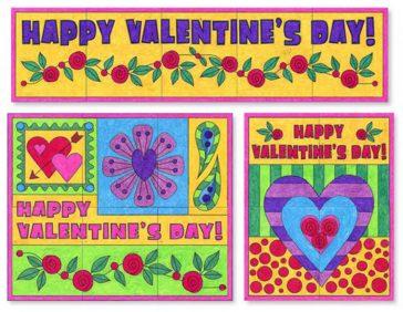 collaborative Valentine's Day Murals