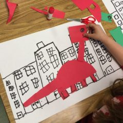 Dinosaur art project