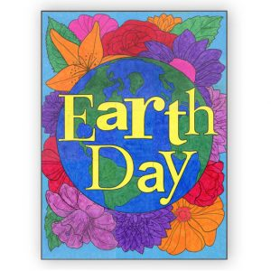 Earth Day Floral collaborative art project