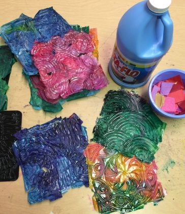Tissue Paper and Starch Tiles