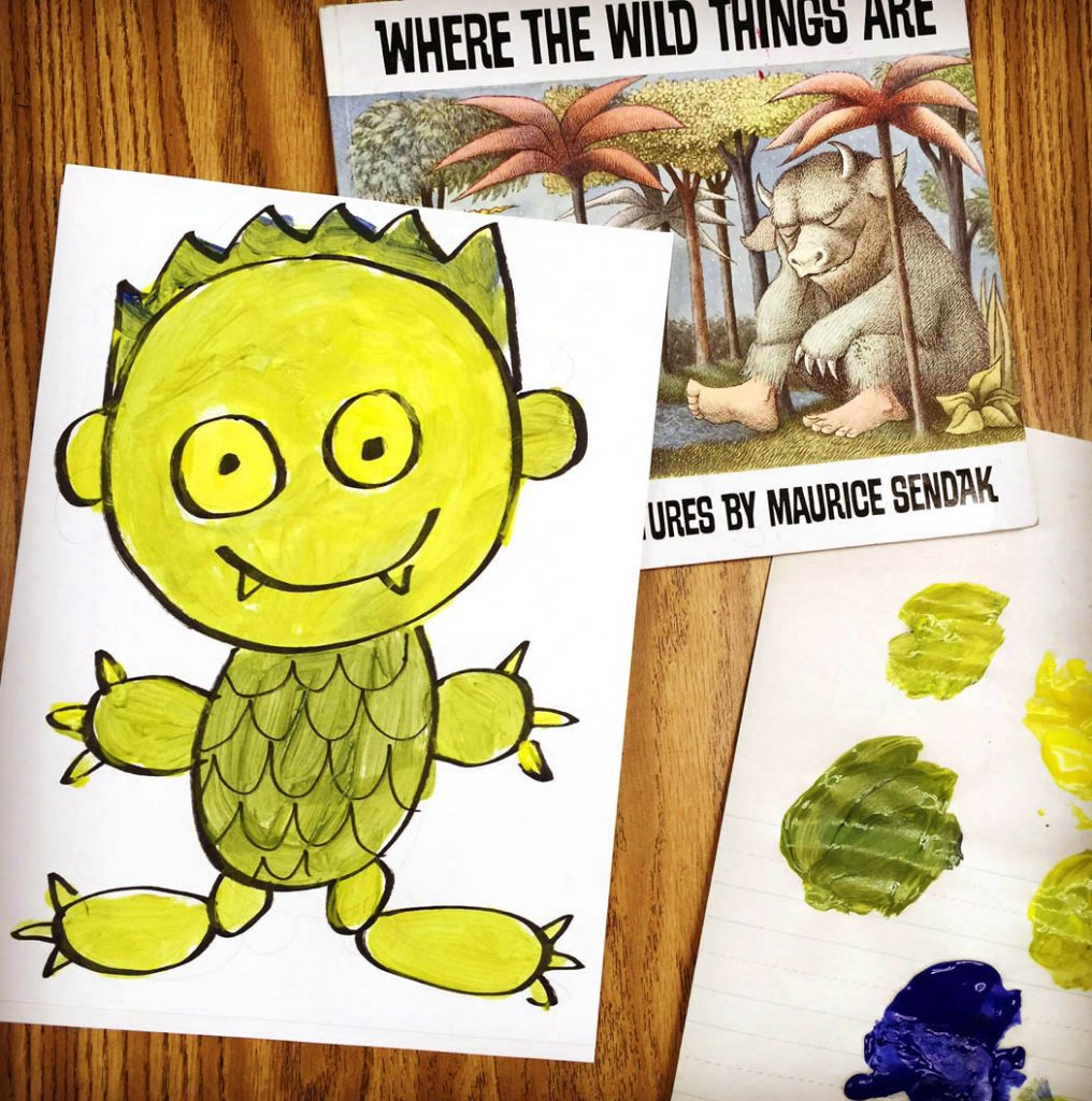 where the wild things are art activities