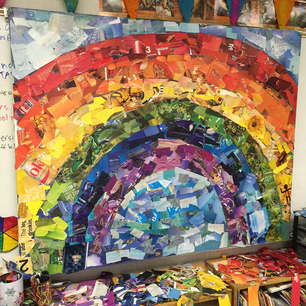 Giant Rainbow Collage · Art Projects For Kids. Canvas Ideas For Couples. Fireplace Ideas In Living Room. Ideas Decoracion Navidad Faciles. Photography Ideas With Bubbles. Photography Experimentation Ideas. Wedding Ideas With Blue. Wedding Ideas Dresses. Wedding Ideas On A Budget For Fall