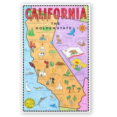 california state map printable