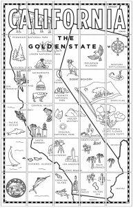 california state map printable