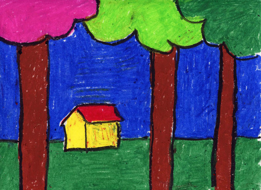 Simple Landscape - Art Projects for Kids
