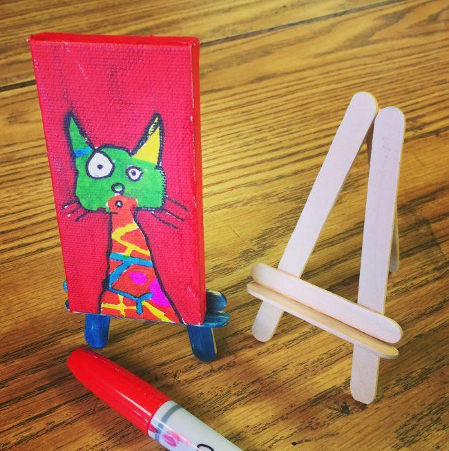 Sharpie marker cat painting