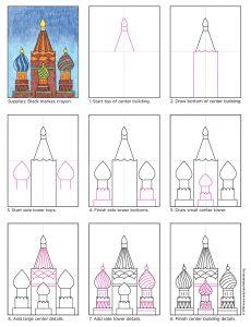 Draw Russian Buildings   Art Projects for Kids   Bloglovin'