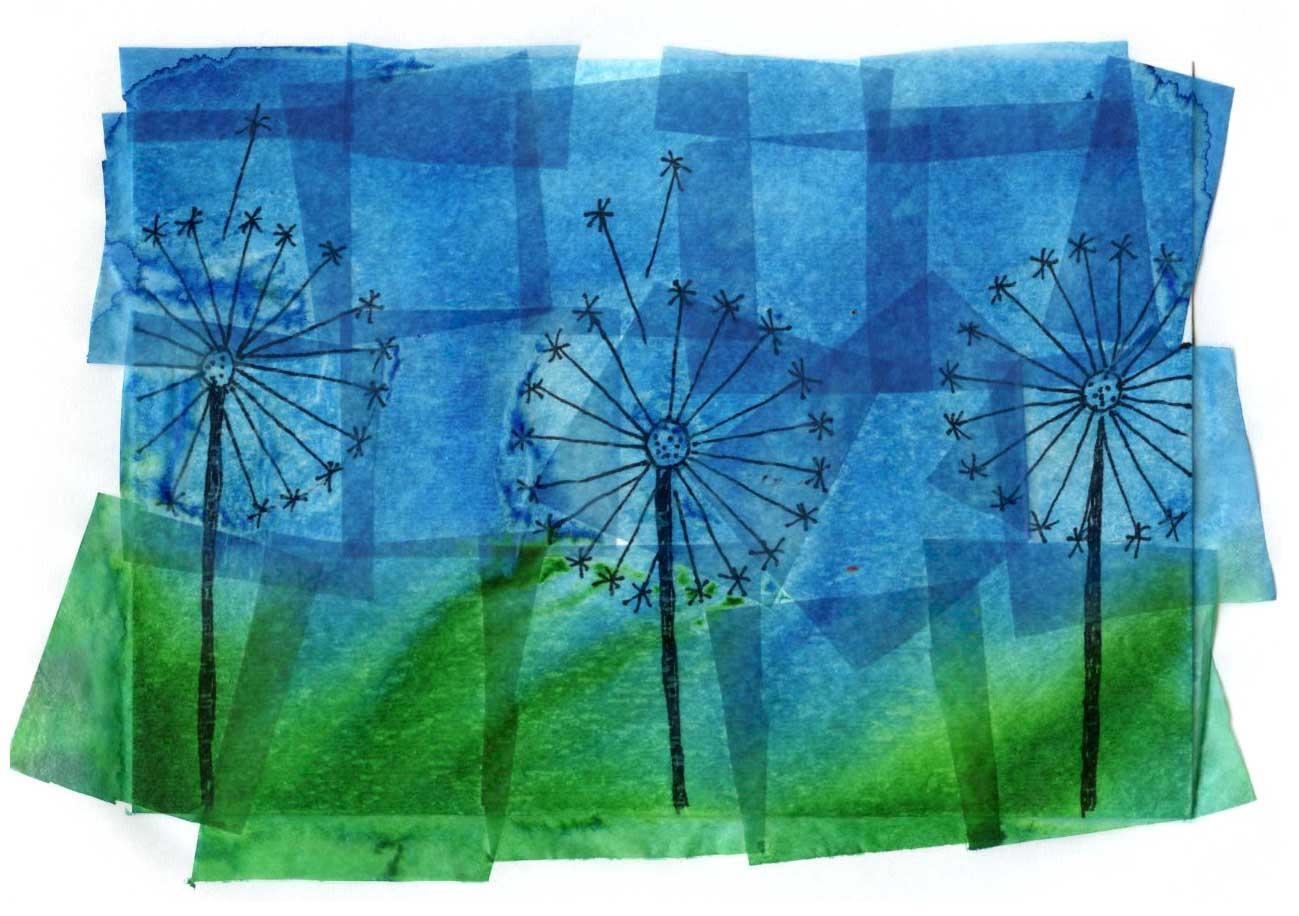 dandelion painting  u00b7 art projects for kids