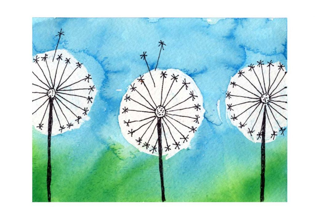 how to paint a dandelion