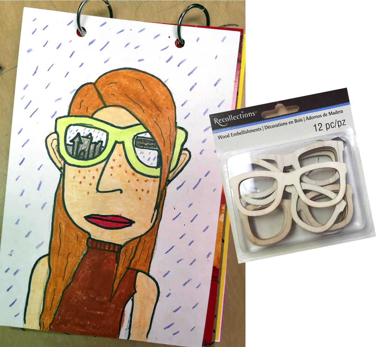 sunglasses self portrait art projects for kids