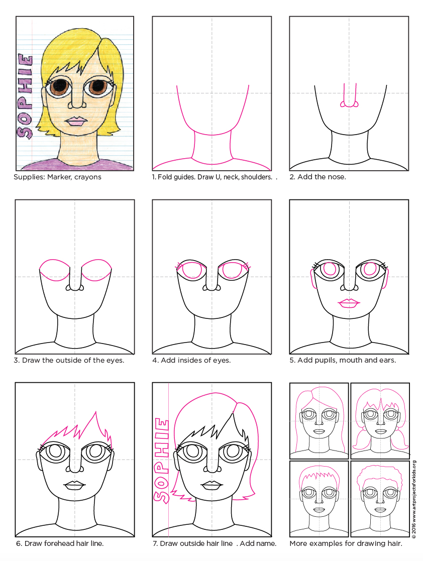 Big eyes self portrait art projects for kids big eyes girl diagram ccuart