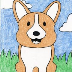 Draw Corgi dog