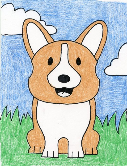 fun to draw dog