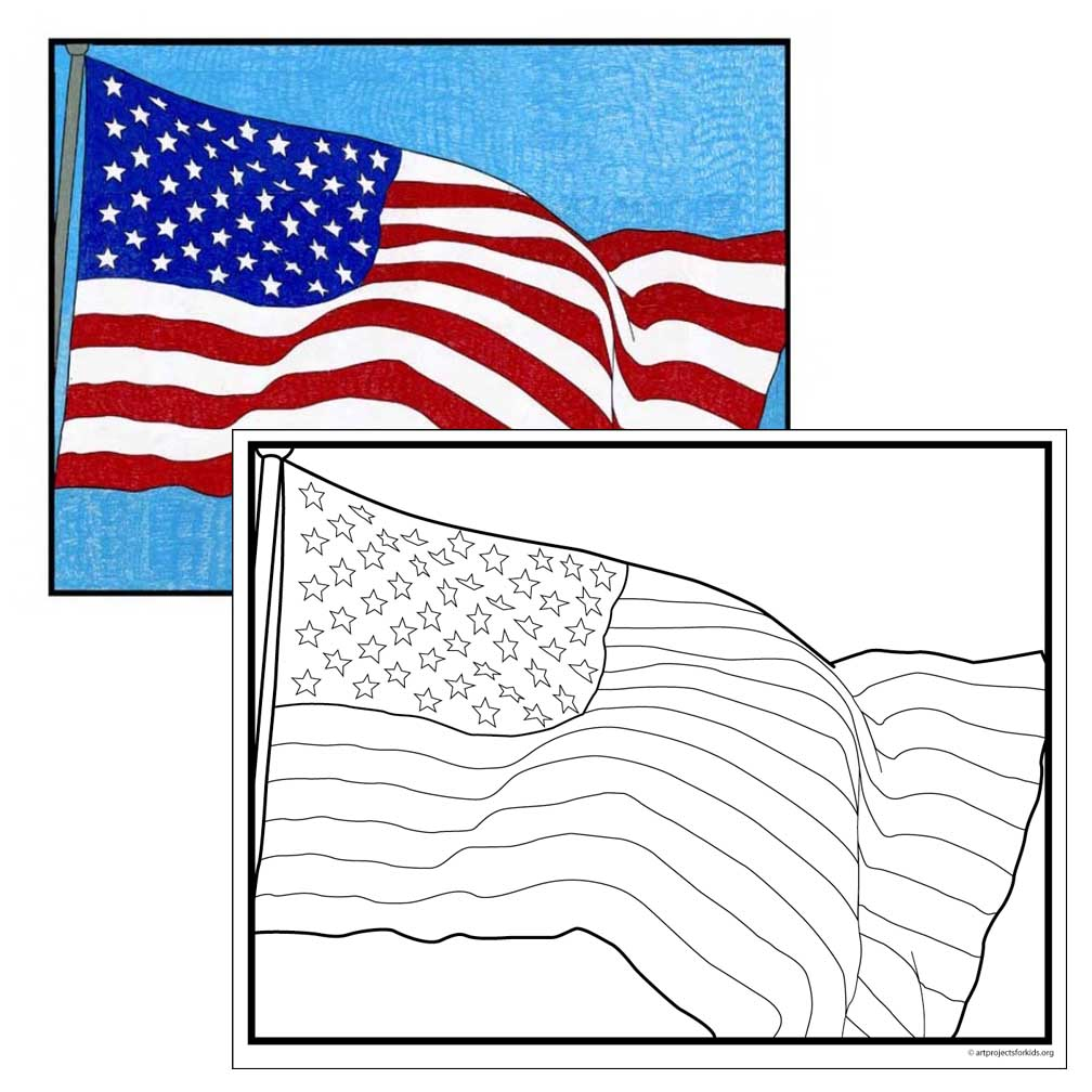 American Flag Coloring Page Art Projects For Kids Flag Coloring Page