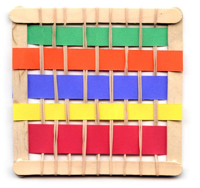 Craft stick loom project art projects for kids for Popsicle art projects