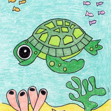 easy how to draw a sea turtle
