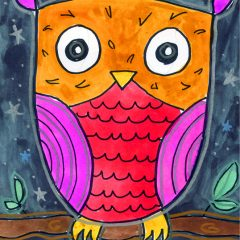 Draw a Simple Owl
