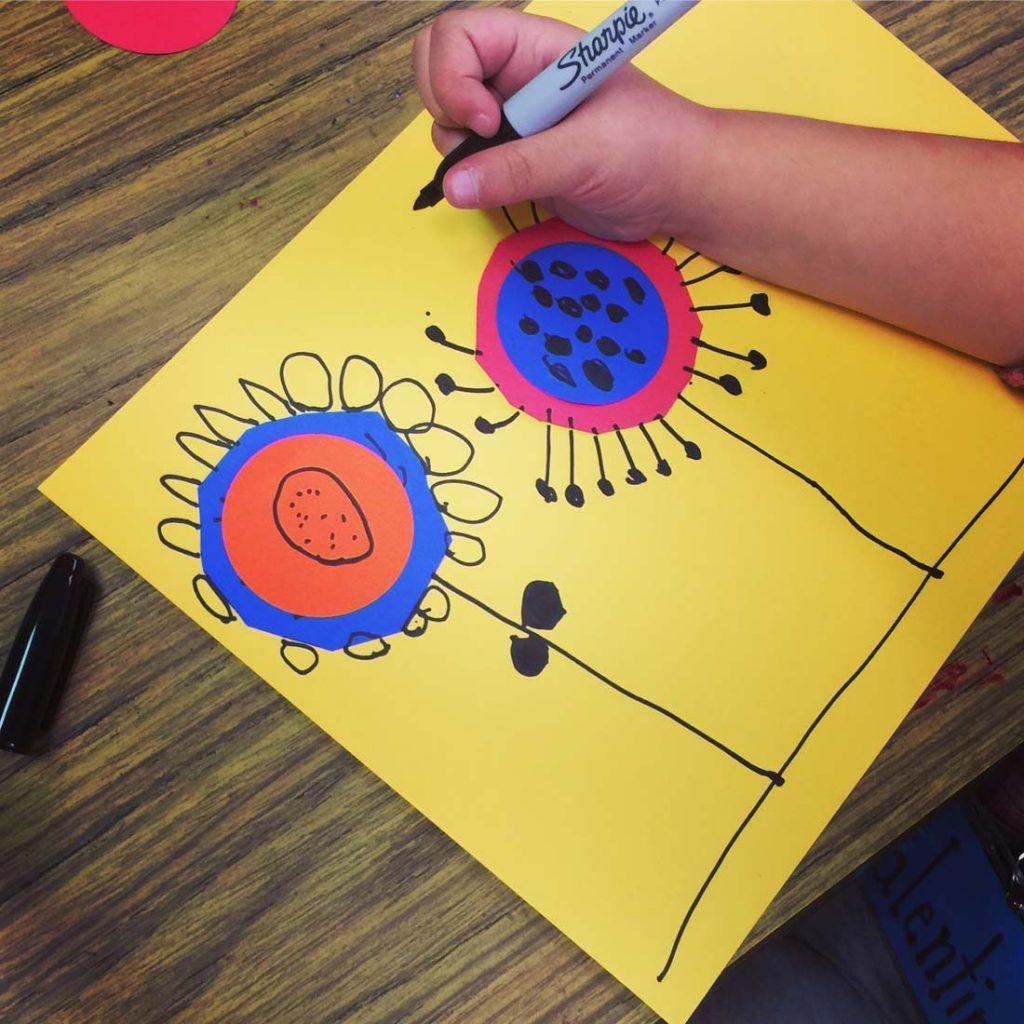 easy art for kindergarten