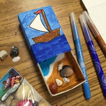 Matchbox Seashell Art