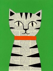 Newspaper cat collage