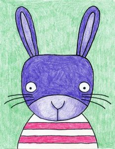 A Cute Bunny Face Drawing · Art Projects for Kids