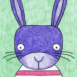 Bunny face drawing
