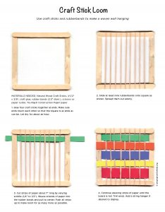 Craft stick loom project art projects for kids for Sticky boards for crafts