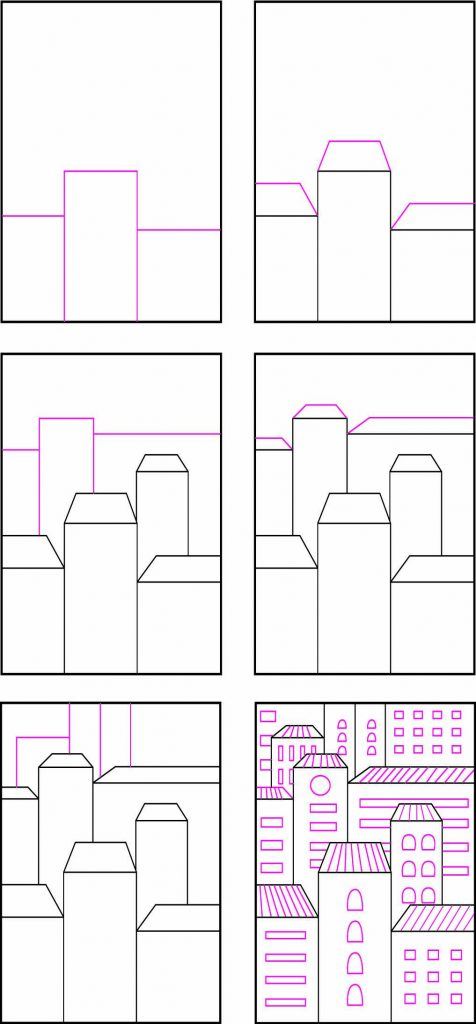 How to draw easy buildings