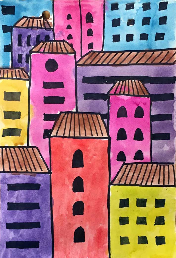 Overlapping Art With Architecture 183 Art Projects For Kids